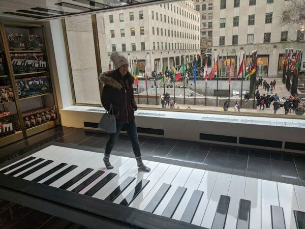 The giant piano from Big at FAO Schwarz in New York City