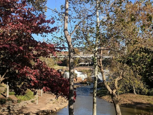 Beautiful Falls Park in Greenville, South Carolina