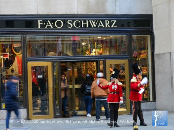 FAO Schwarz at Rockefeller Center in NYC