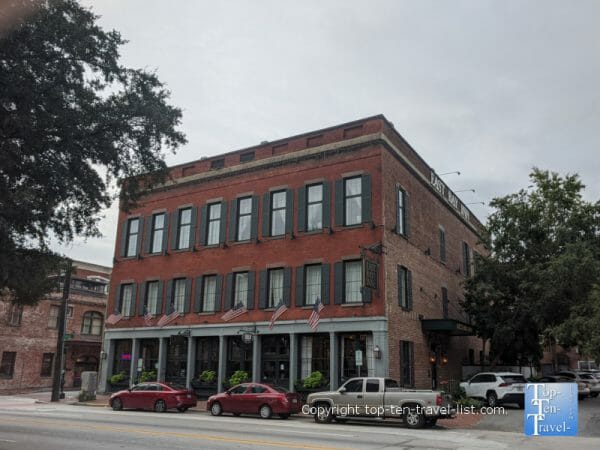 The historic East Bay Inn in Savannah, Georgia