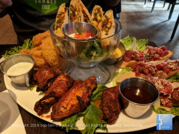 Jumbo appetizer platter at Hard Rock Cafe