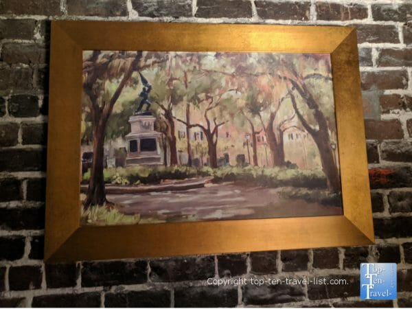 Lovely artwork at the East Bay Inn in Savannah, Georgia