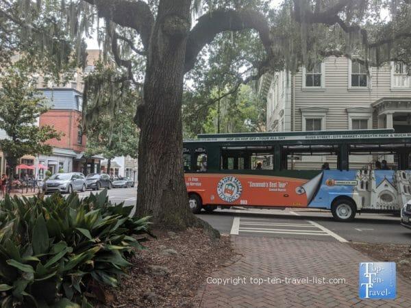 Old Town Trolley tours in Savannah, Georgia