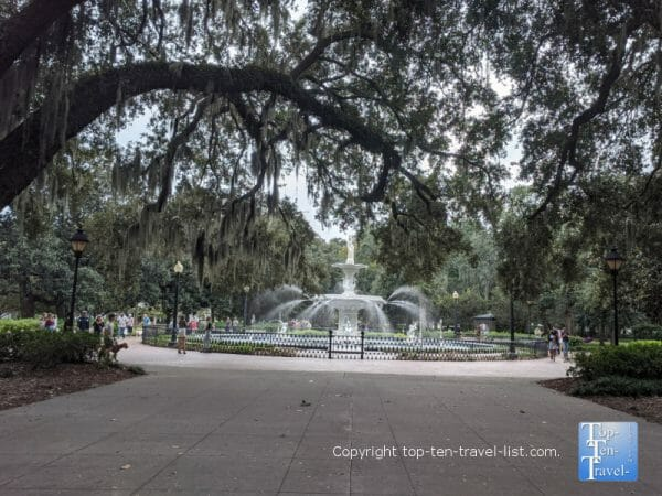 Beautiful Forsyth Park in Savannah, Georgia