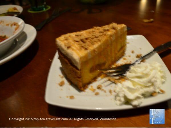 Seasonal Pumpkin Cheesecake at the Olive Garden