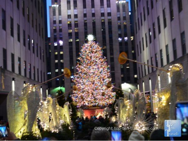 The Christmas tree at Rockefeller Center in New York