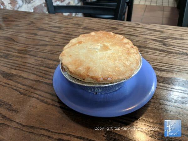 Veggie Pot pie at the Little Crown Co. in Savannah, Georgia