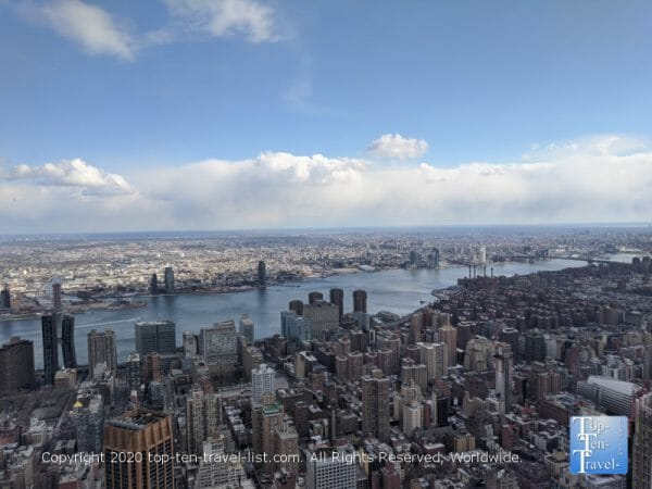 Incredible views via the 86th floor of the Empire State building in NYC
