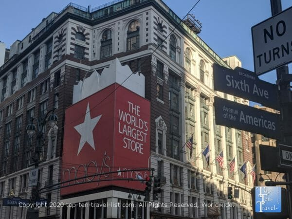 Macy's on Herald Square in NYC - Miracle on 34th Street filming location