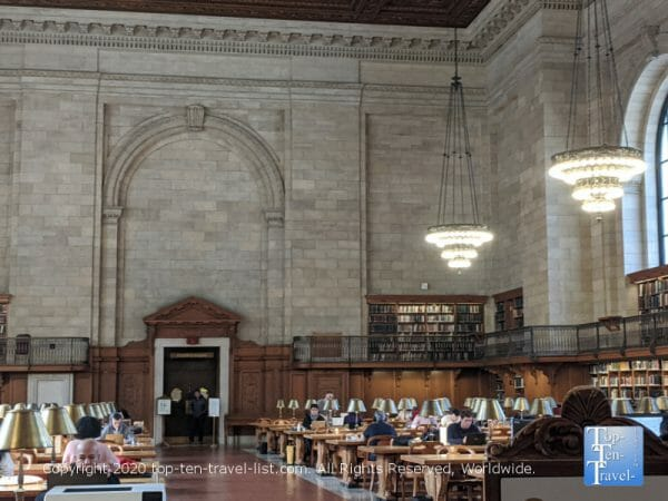 The Reading Room at the NY Public Library - Ghostbusters movie filming location