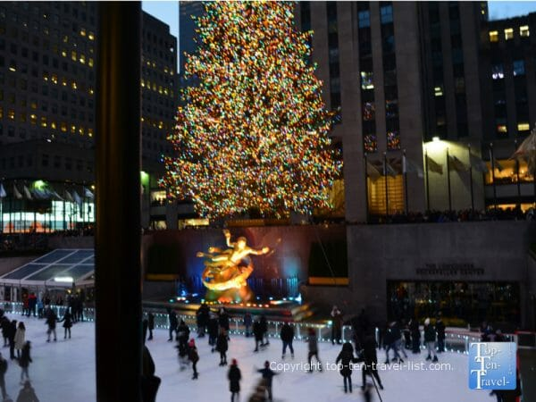 The famous Rockefeller Center ice rink in NYC - Elf filming location