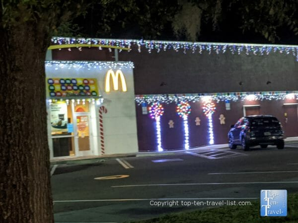 Festive McDonald's on US Hwy 19 in Palm Harbor, Florida