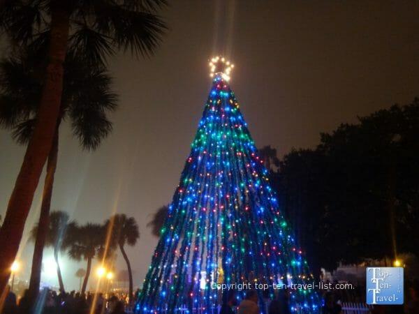 Christmas tree in downtown Dunedin, Florida