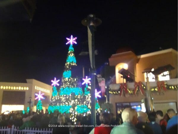 Shops of Wiregrass Christmas tree in Wesley Chapel, Florida