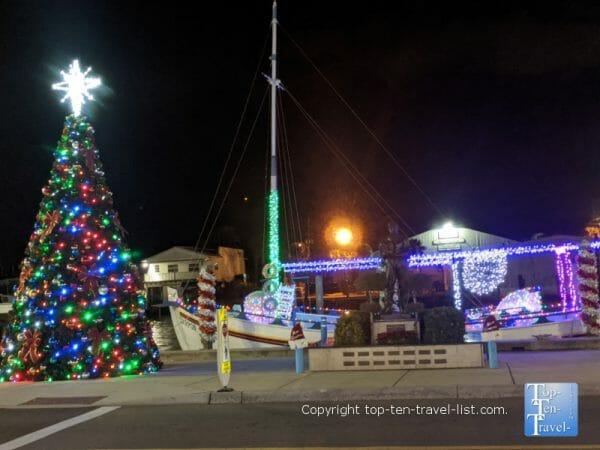 Christmas tree in downtown Tarpon Springs, Florida