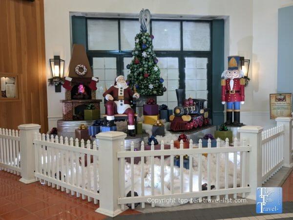 Christmas display at Disney's Boardwalk Inn