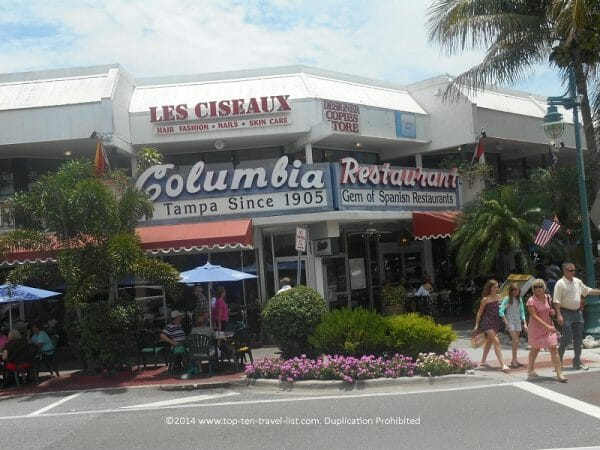 Columbia restaurant in St. Armand's Circle in Sarasota, Florida
