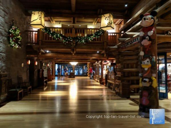 Festive decor at Disney's Wilderness Lodge