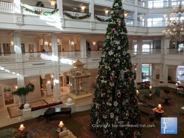 Beautiful Christmas decor at Disney's Grand Floridian resort