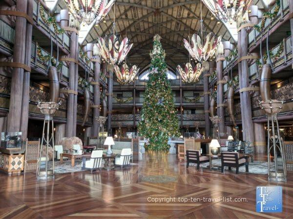 Gorgeous Christmas tree at Disney's Animal Kingdom Lodge