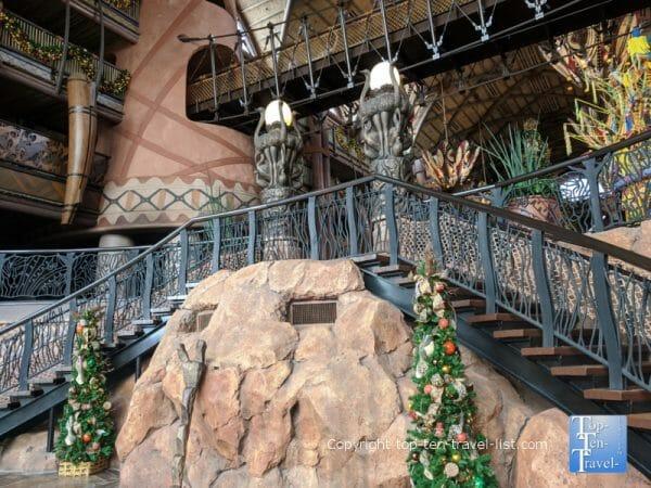 Pretty holiday decor at Disney's Animal Kingdom Lodge