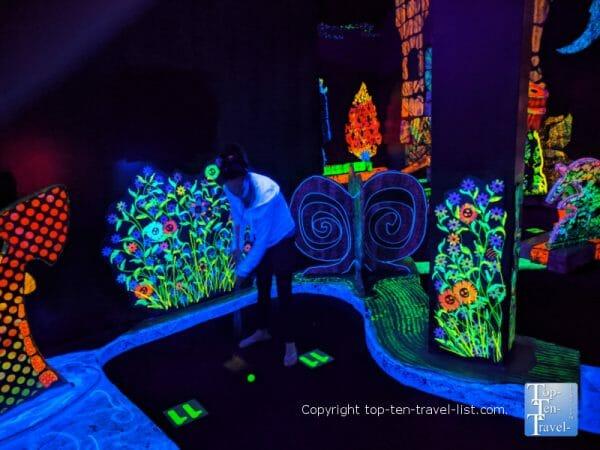 Putting Edge glow in the dark mini golf in Orlando, Florida