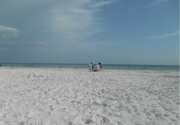 Relaxing day on Siesta Key Beach