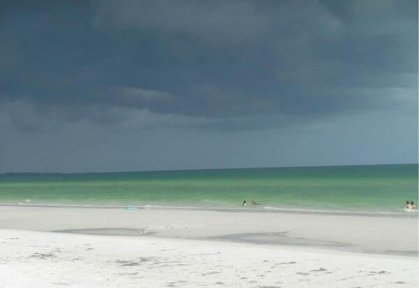 Stormy day at Siesta Key Beach in Sarasota, Florida