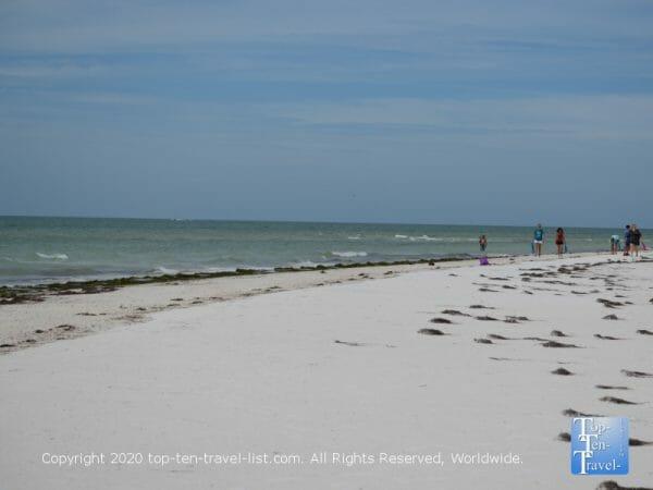 Quiet stroll along Anclote Island beach near Tarpon Springs, Florida