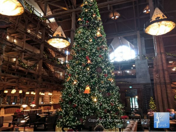 The amazing Christmas tree at Disney's Wilderness LOdge