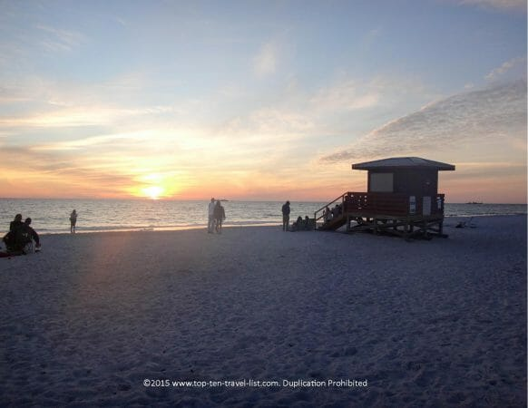 Gorgeous sunset at Lido Beach in Sarasota, Florida