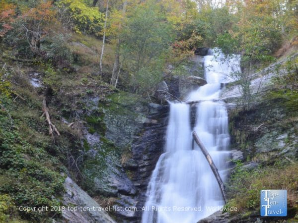 Tom's Creek waterfall in Western North Carolina