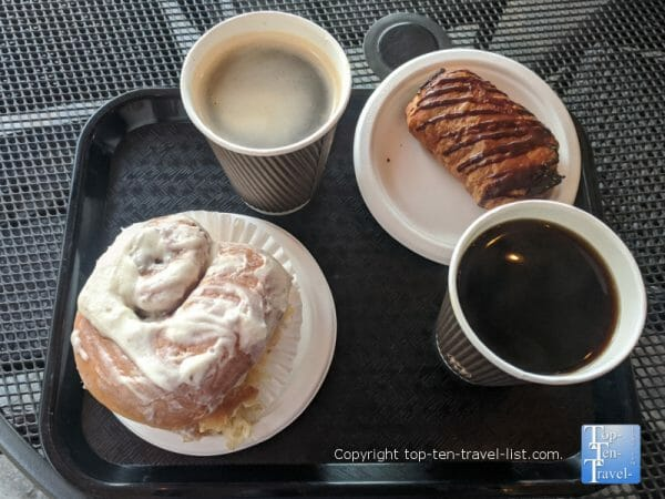 Coffee and pastries at Tony's Off Third in Naples, Florida