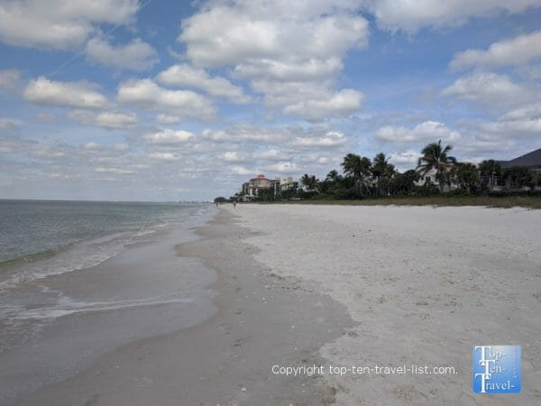 Peaceful scenery at Delnor Wiggins State Park in Naples, Florida