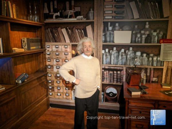 Einstein wax figurine at Madame Tussauds Wax museum at Icon Park in Orlando, Florida
