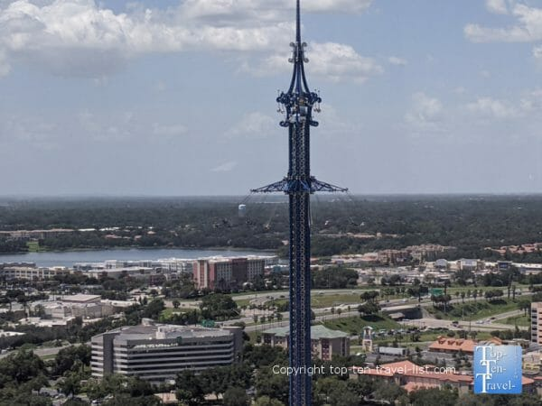 Giant swing ride at Icon Park in Orlando, Florida