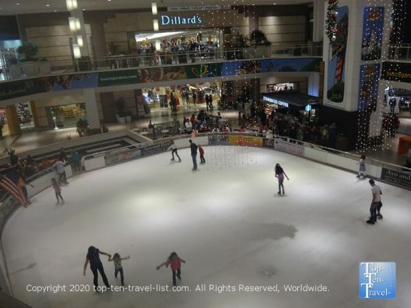 Ice skating at Westfield Countryside Mall in Clearwater, Florida