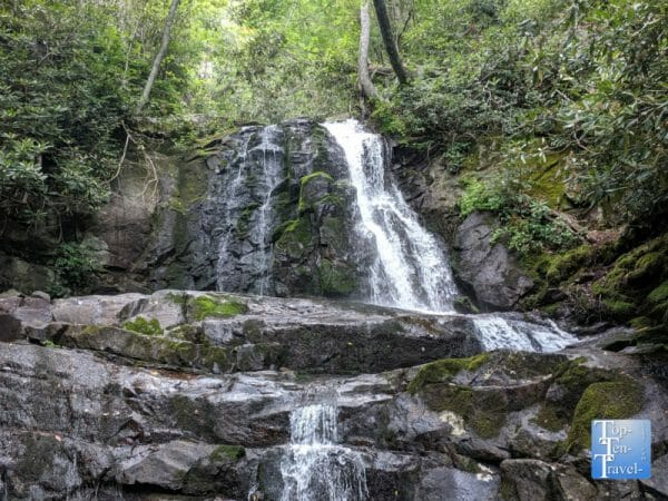 Laurel Falls in the Smoky Mountains National Park in Gatlinburg, Tennessee