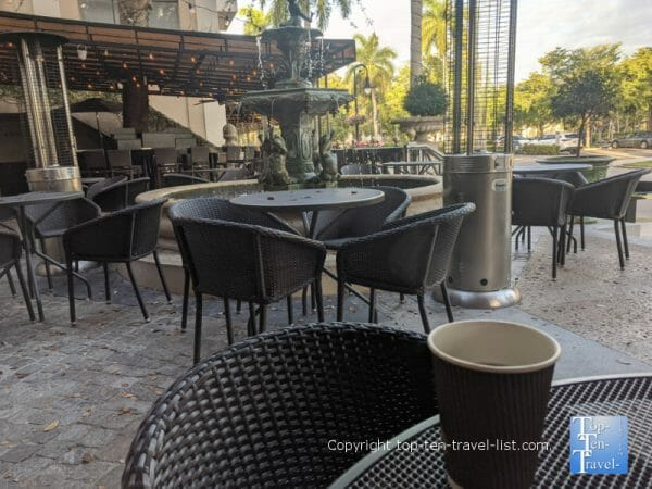 Lovely patio at Tony's Off Third in Naples, Florida