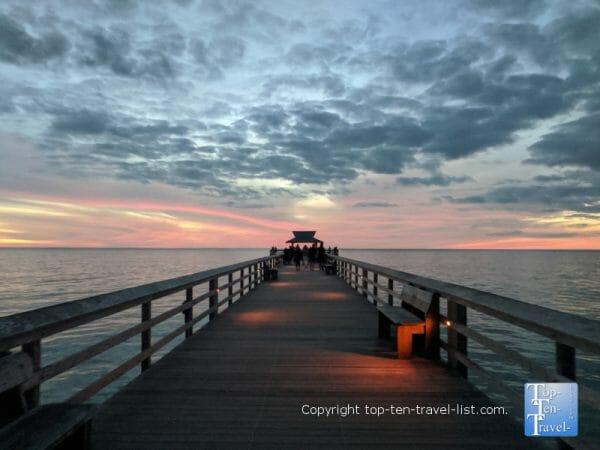 Sunset walk along the Naples Pier