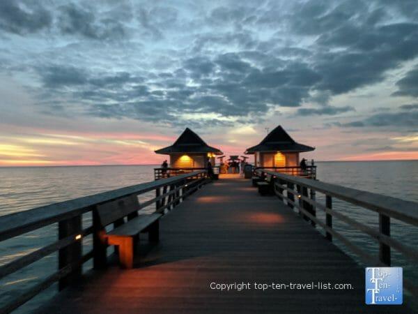 Gorgeous sunset in Naples, Florida