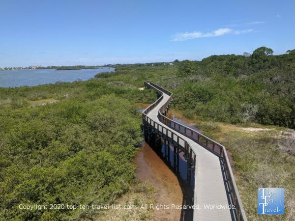 The boardwalk trail at Boca Ciega Millennium Park on Florida's Gulf Coast