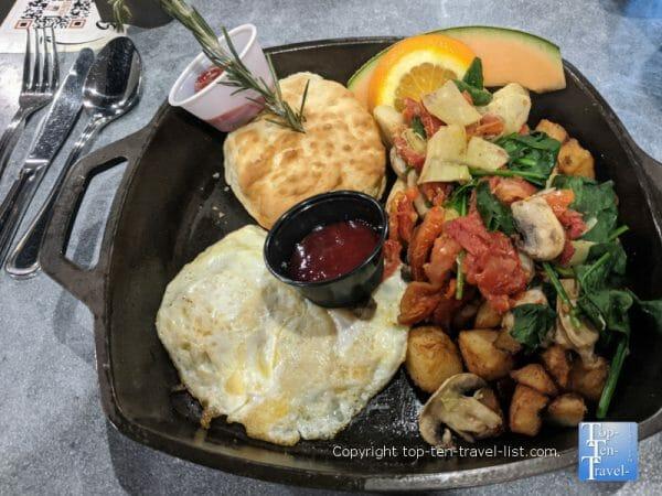 Veggie hash at Hash House A Go Go in Orlando, Florida