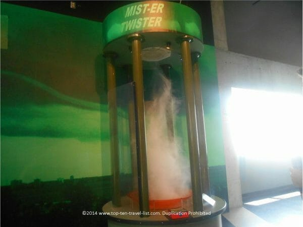 Tornado simulator at MOSI in Tampa, Florida