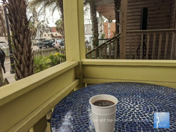 Americano at Relampago Coffee Lab in St. Augustine, Florida
