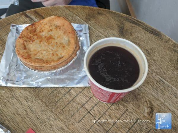 Coconut curry Aussie pie at Kookaburra in St. Augustine, Florida
