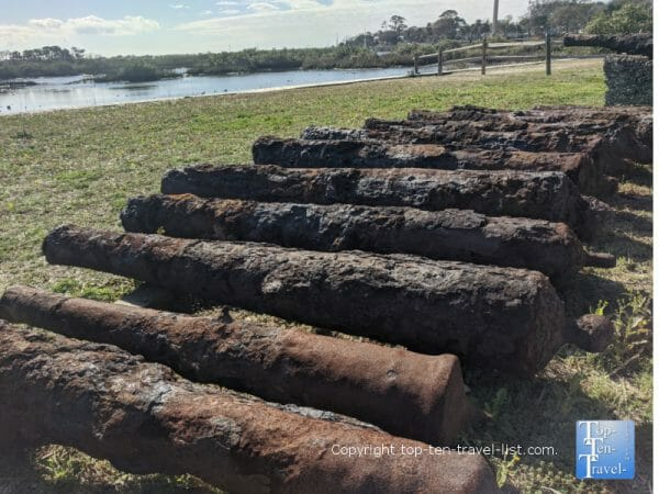Rusty canons at the Fountain of Youth Park in St. Augustine, Florida