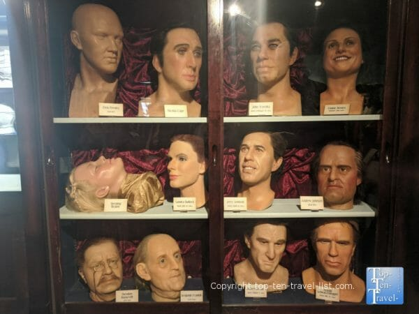 Celeb wax figures at Potter's Wax Museum in St. Augustine, Florida