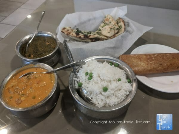 Delicious Indian food at Minerva Indian restaurant in Tampa, Florida