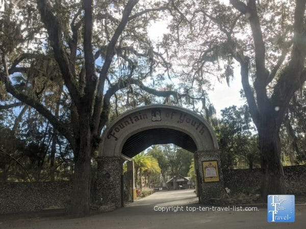 The Fountain of Youth Park in St. Augustine, Florida